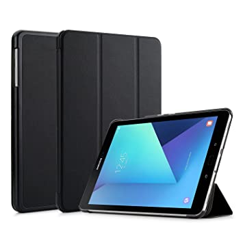new product 63464 85df9 Samsung Galaxy Tab S3 9.7 Case Cover (SM-T820/T825) - ToGeeKa PU Leather  Stand Case Smart Cover with 3 Folds with Auto Wake up/Sleep Function, Black