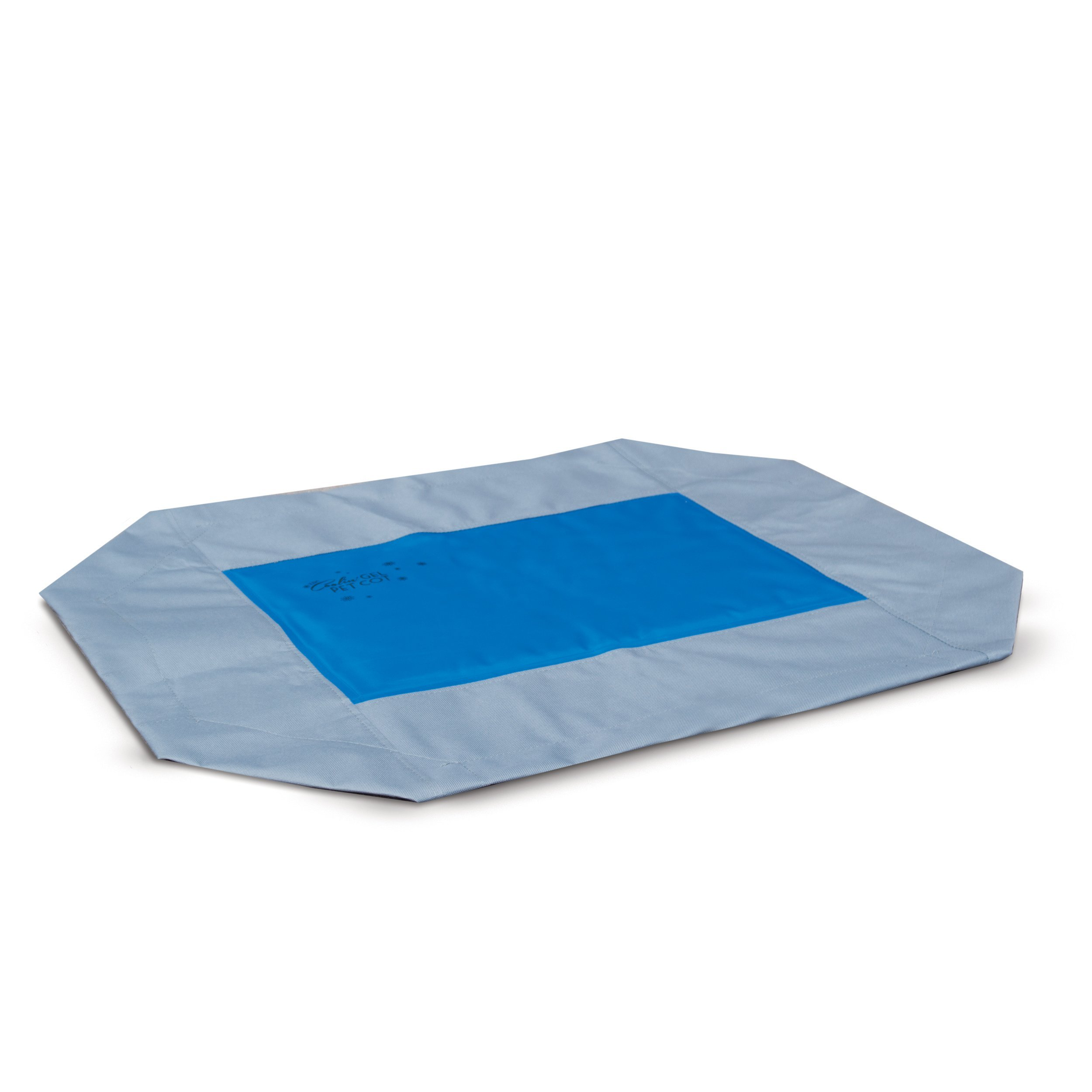 K&H Manufacturing Coolin' Gel Pet Cot Cover Medium Gray/Blue 25-Inch by 32-Inch