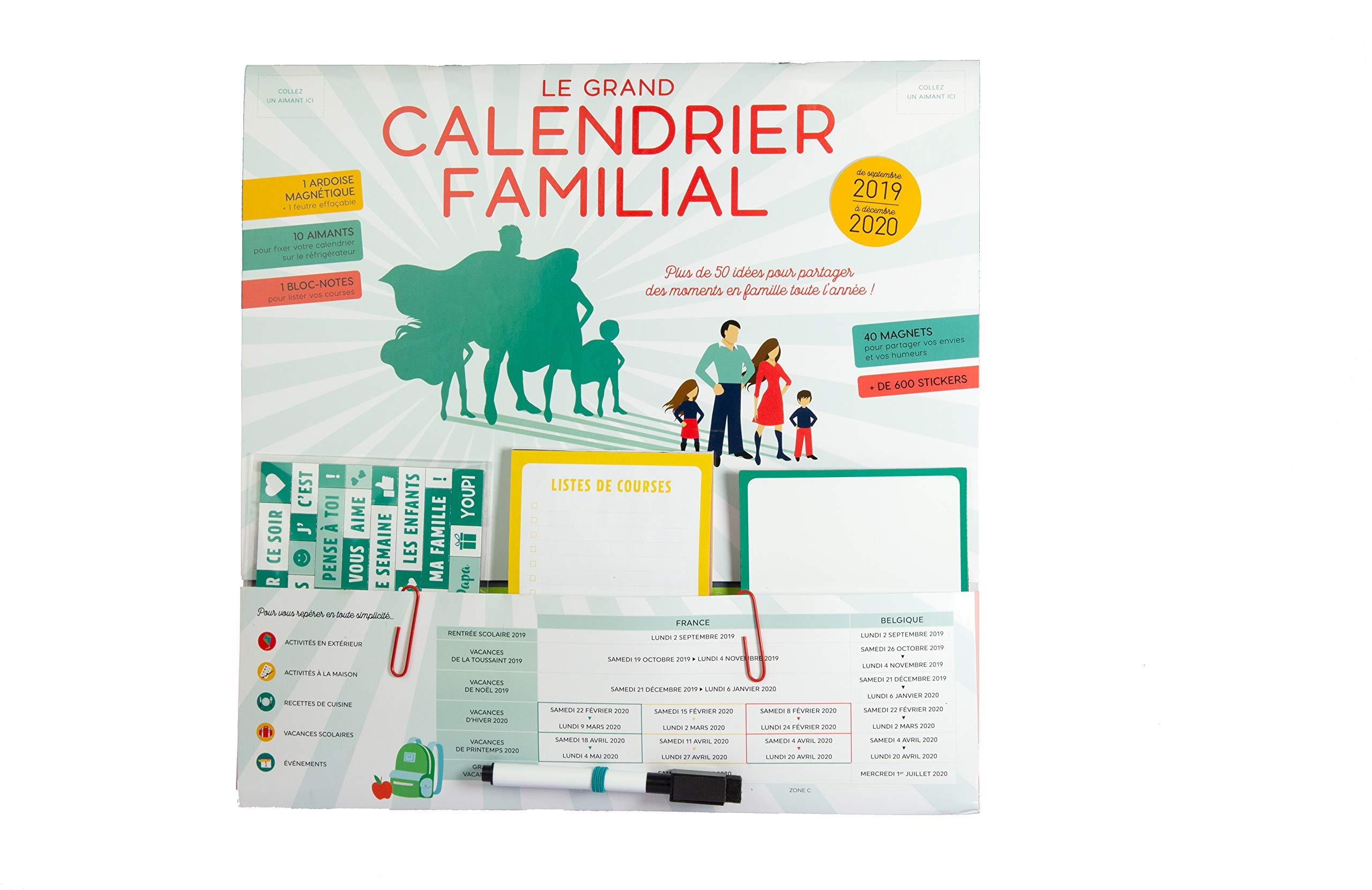 Le grand calendrier familial : Avec 1 feutre: Amazon.es: Fleurus ...