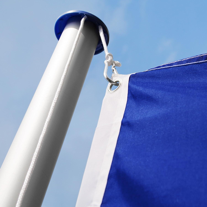 corda e piantone set Alemagne | no. 402125 modelli differenti TecTake Asta alluminio 625 cm con bandiera
