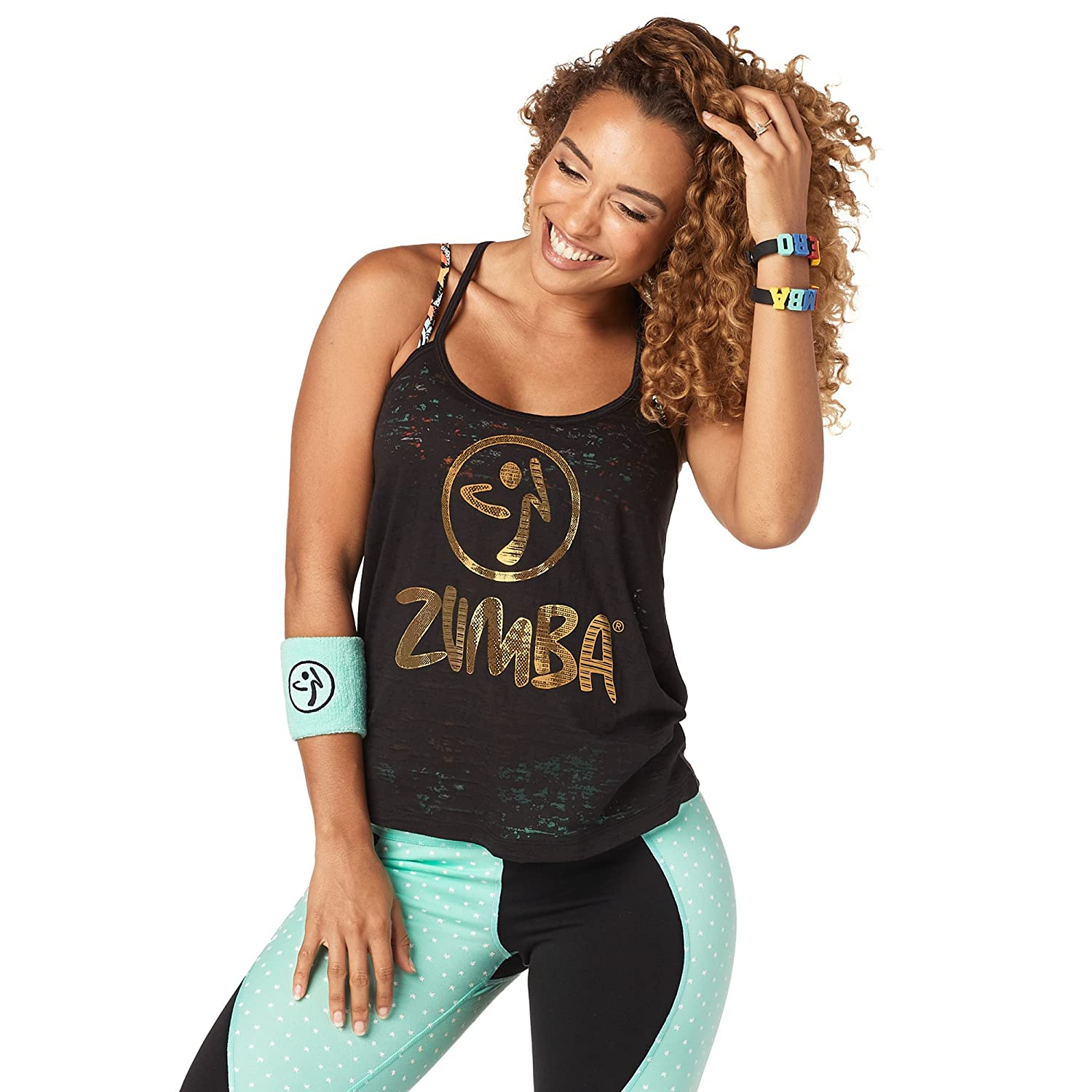 Zumba Backless Dance Fitness Womens Tops Breathable Open Back Bold Front Graphic Print Loose Fit Exercise Workout Tank Tops for Women