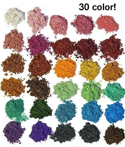 Amazon.com: 30 Color Pigments Shimmer Mica Powder - DIY Soap Making ...