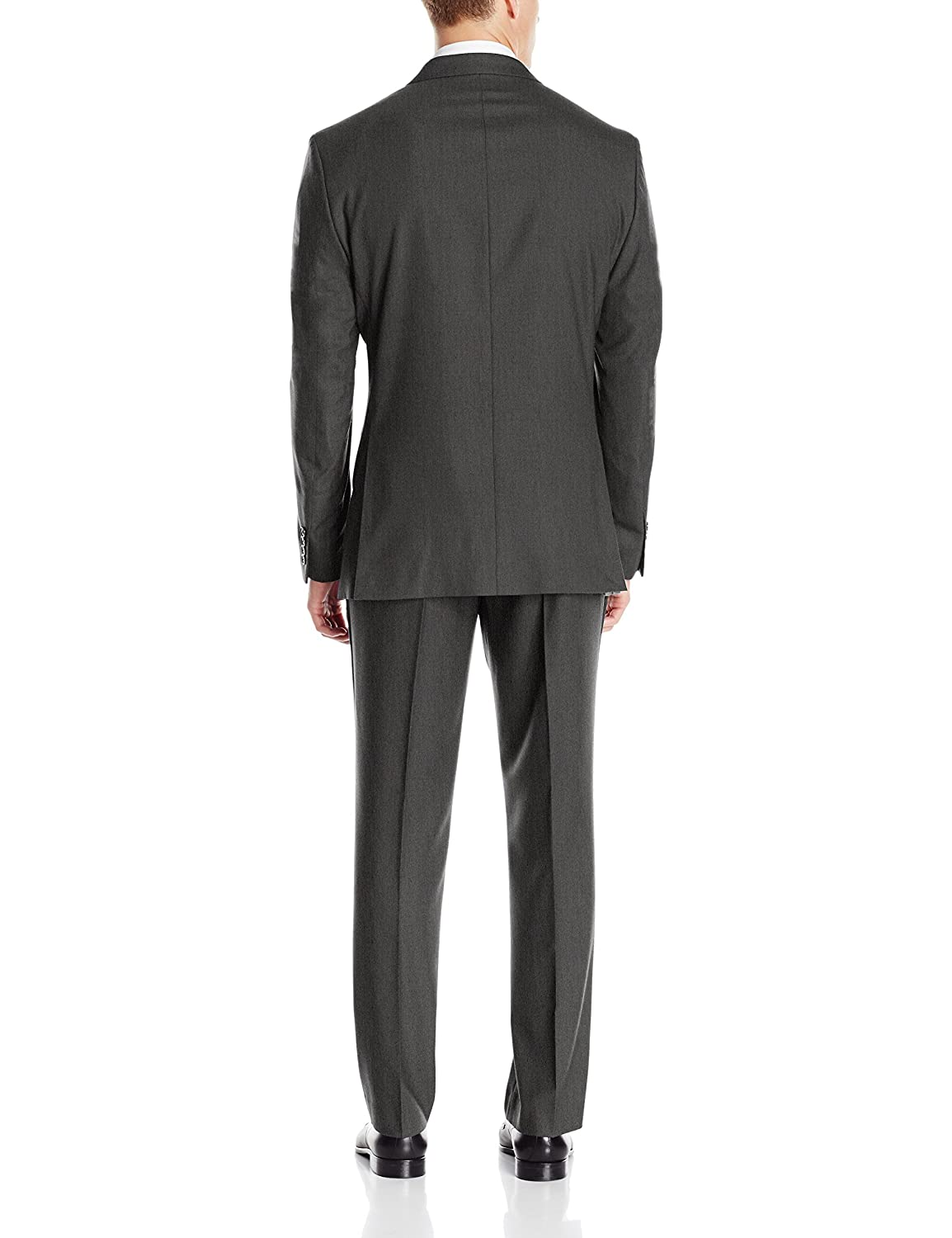 Perry Ellis Mens Slim Fit Suit w/ Hemmed Pant