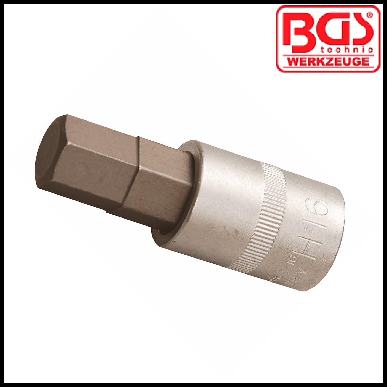 Allen Key Internal Hex 1//2 16 mm Bit Socket BGS-5052-16 BGS Pro Range
