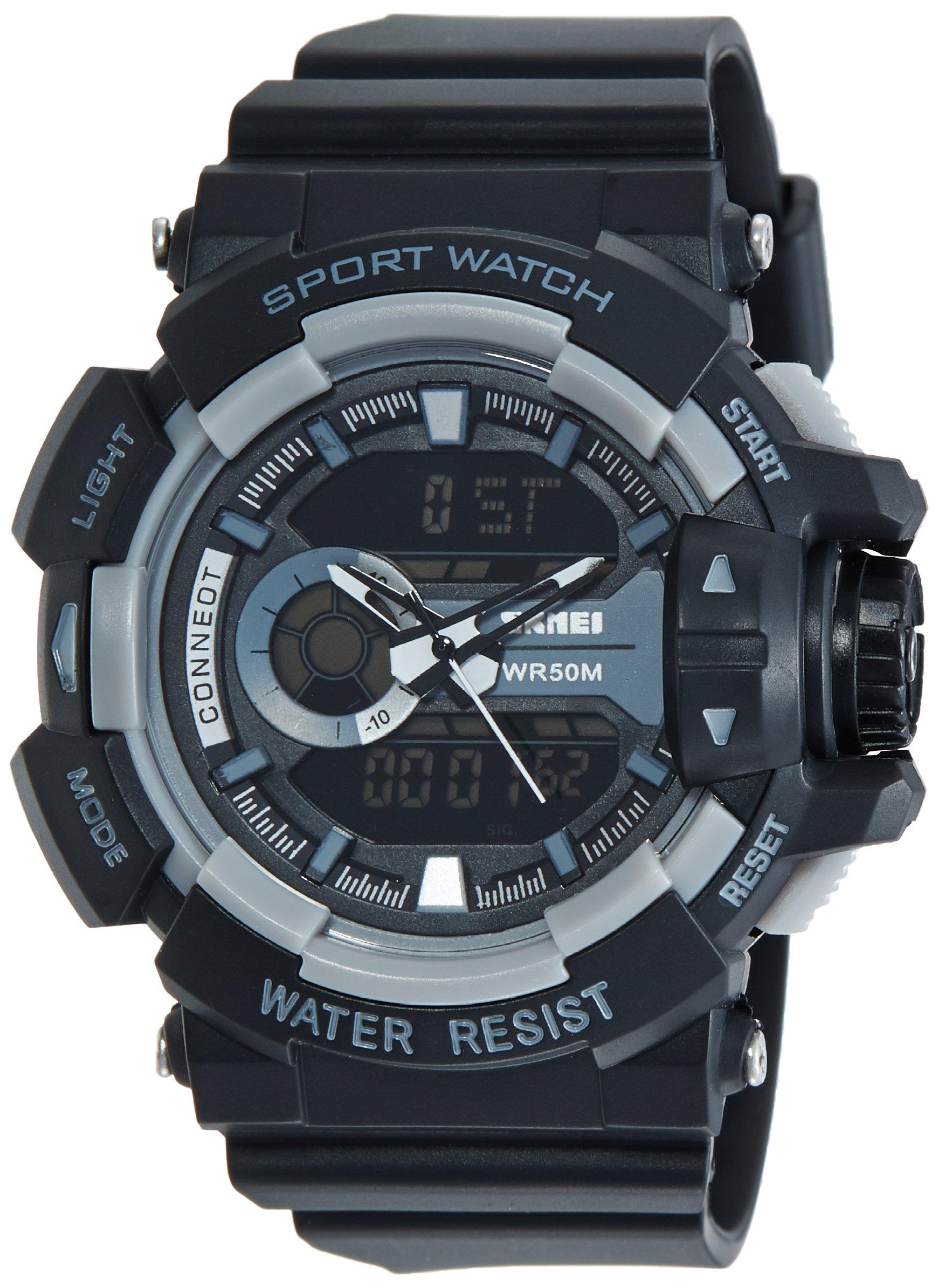 Smael Analogue Digital Dual Quartz Movement Military Design Water Resistant Sports Men's Watch -1509 product image