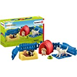 Schleich Farm World Puppy Pen 13-piece Educational Playset for Kids Ages 3-8