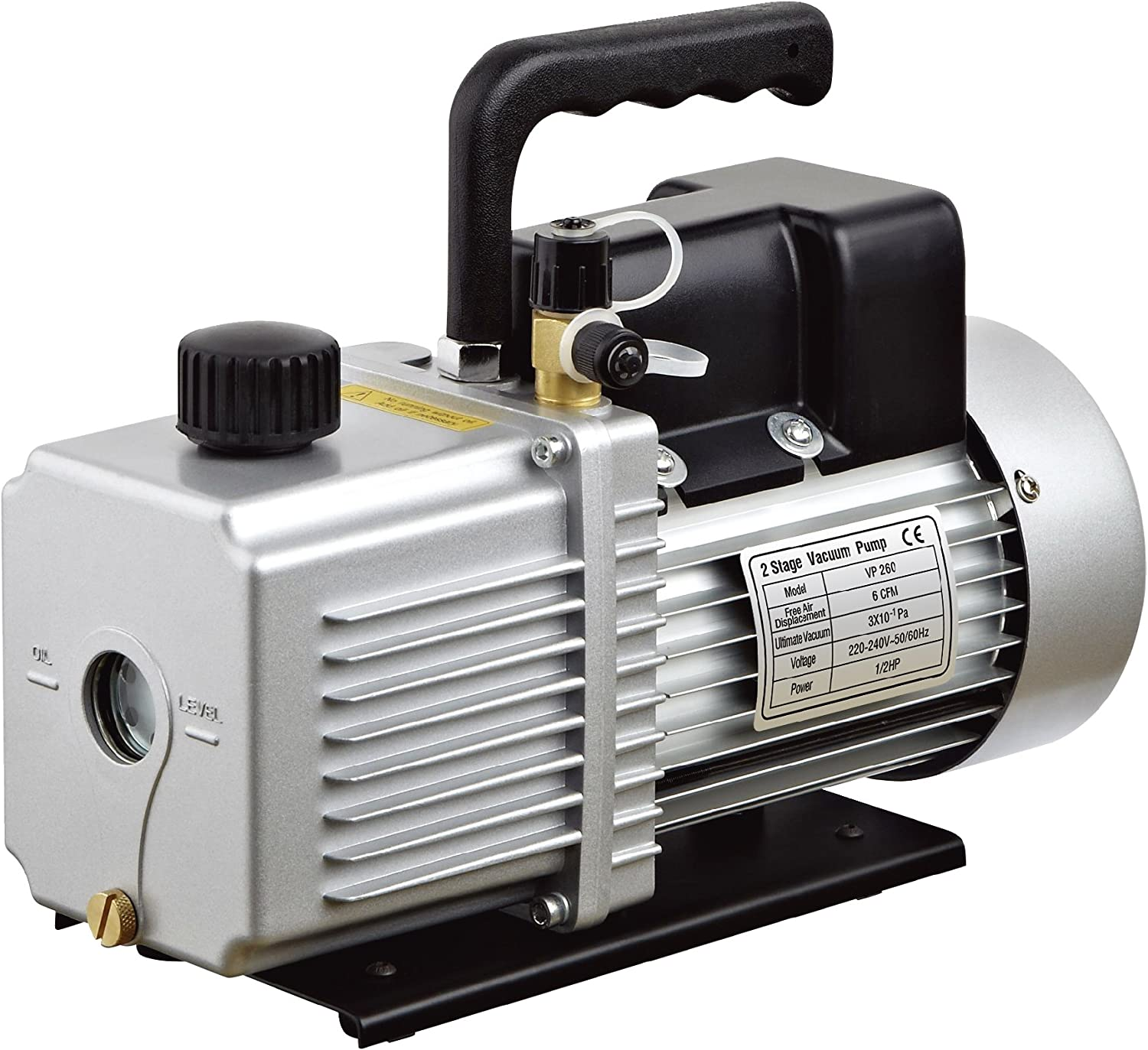 "HFS (R Vacuum Pump Single Stage 12CFM ; 110V/60HZ ; Inlet: SAE 1/4""-3/8"" SAE; Ultimate Vacuum: 3PA/22.5micron, 1HP"