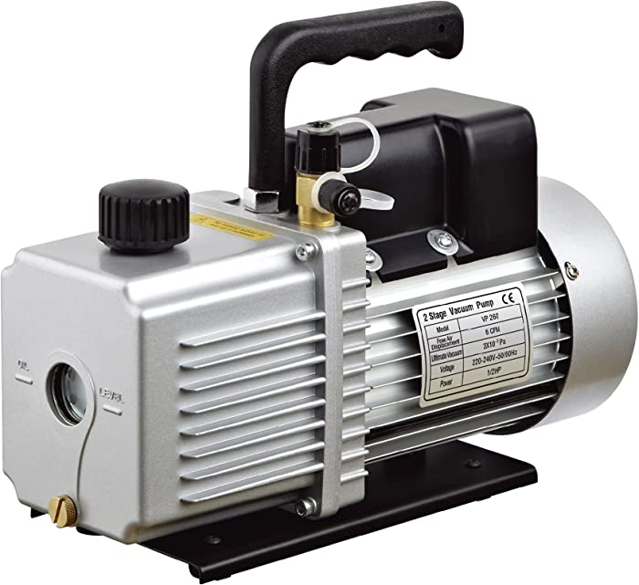 "HFS (R Vacuum Pump Single Stage 12CFM ; 110V/60HZ ; Inlet: SAE 1/4""-3/8"" SAE; Ultimate Vacuum: 3PA/22.5micron, 1HP"