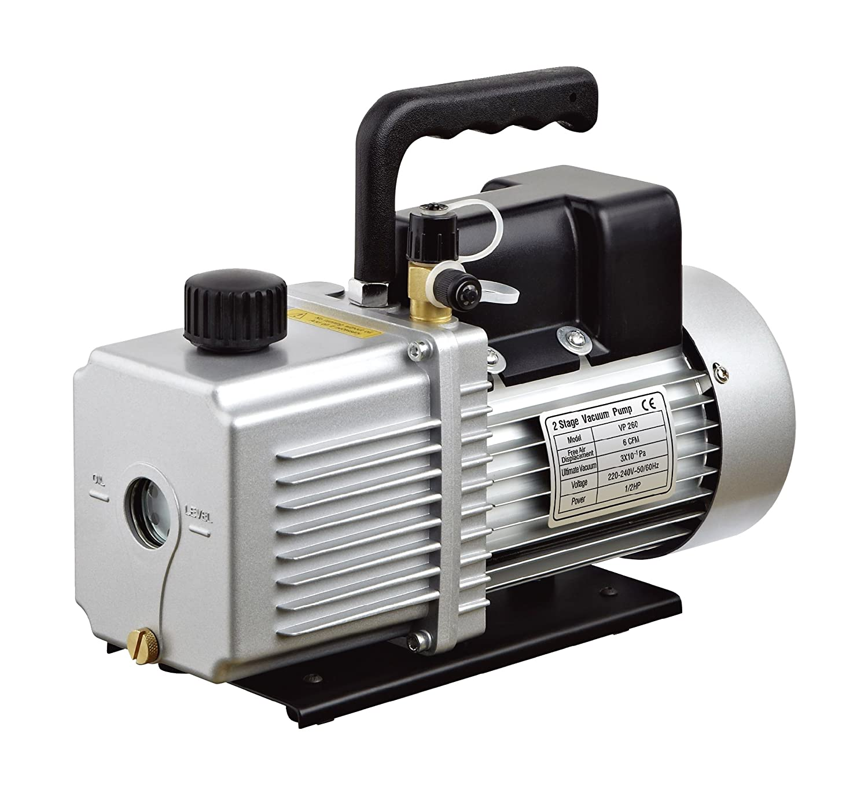 HFS (R Vacuum Pump Single Stage 6 CFM ; 110V/60HZ ; Inlet: SAE 1/4'-3/8' SAE; Ultimate Vacuum: 5PA, 3/4 HP
