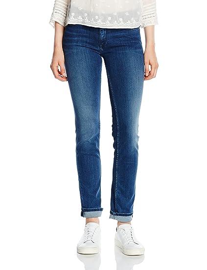 Hilfiger Denim Women's Mid Rise Sandy Straight Jeans, Blue (Niceville Mid  Stretch),