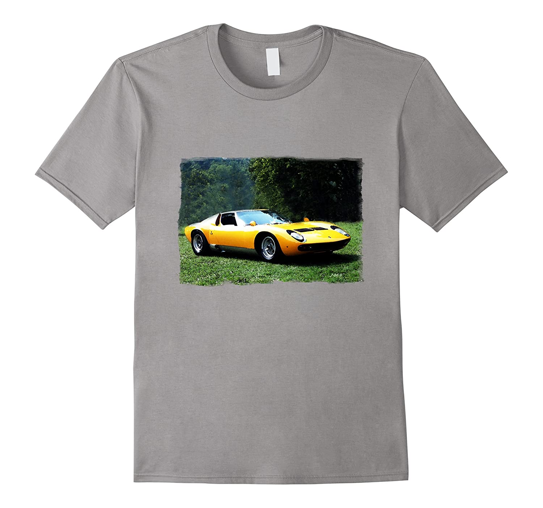1969 classic italian exotic sports car t shirt art