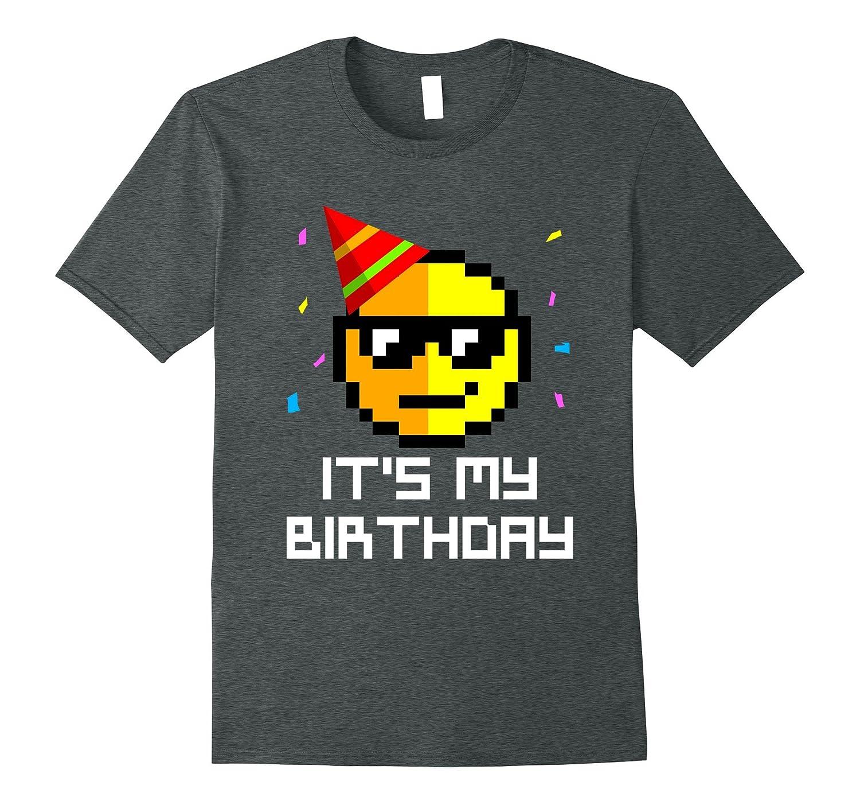 Birthday Emoticon Celebration T shirt Black-Teesml