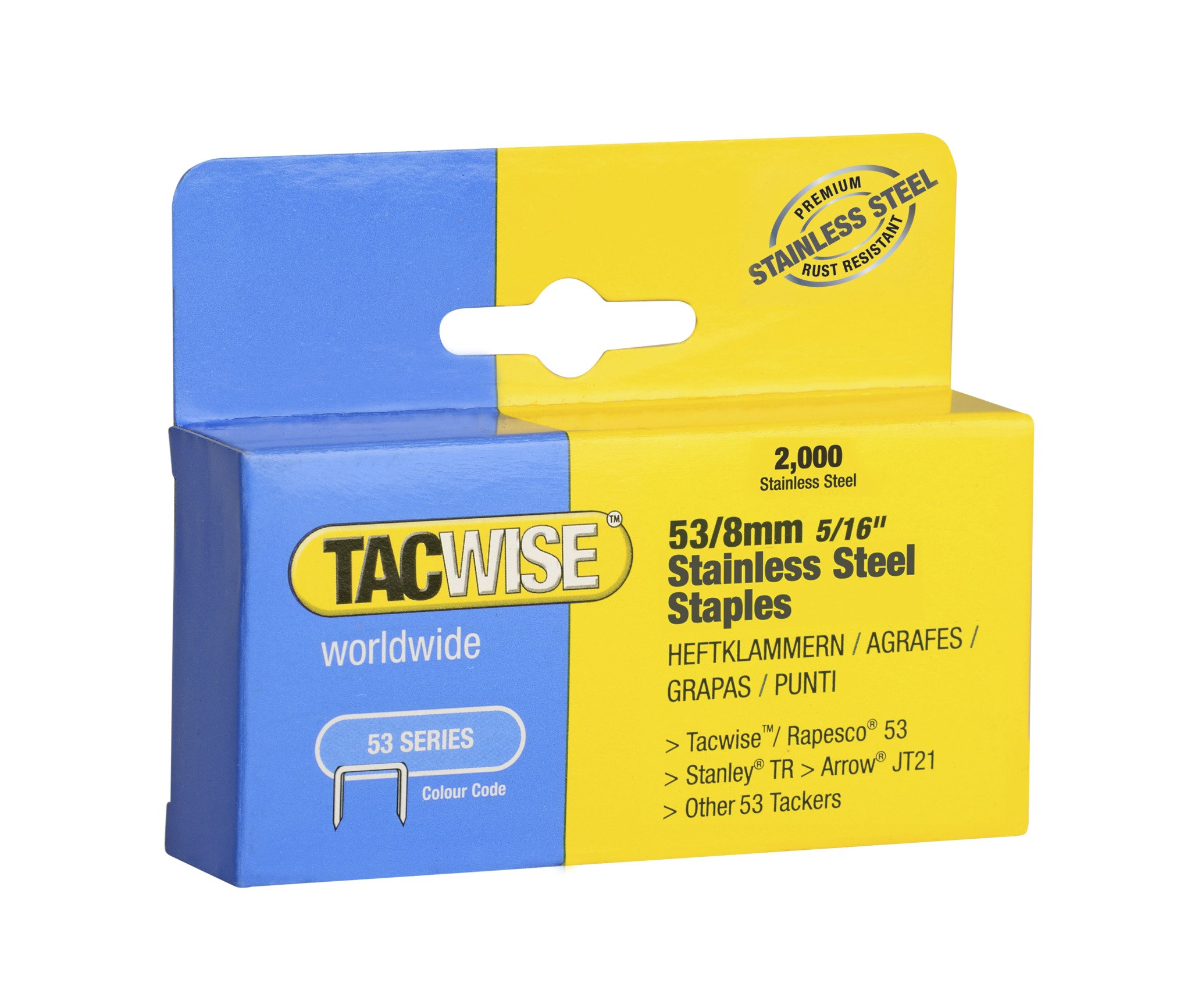 Tacwise 1269 53/8 mm Stainless Steel Staples for