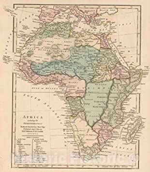 Map Of Africa In 1800.Amazon Com Historic Map 1800 Africa Including The