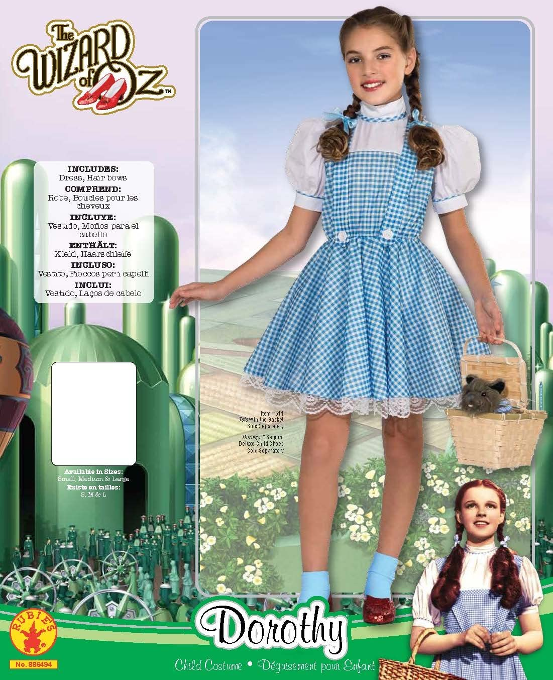 Wizard of Oz Deluxe Dorothy Costume, Medium: Toys & Games