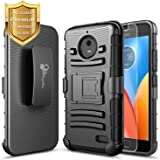 Moto G5S Plus Case, Moto G5S+ Case with FREE [Tempered Glass Screen Protector], NageBee [Heavy Duty] Shock Proof [Belt Clip] Holster [Kickstand] Case For Motorola G5S+ / G5S Plus XT1806 5.5inch -Black