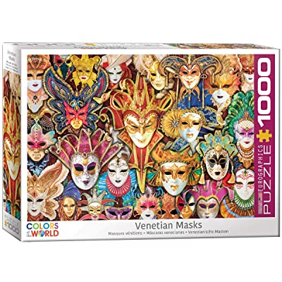EuroGraphics Venetian Mask 1000-Piece Puzzle: Toys & Games