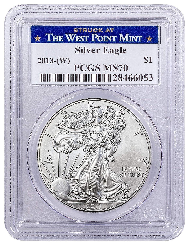 2007-W $1 Burnished Silver Eagle SP70 PCGS John Mercanti