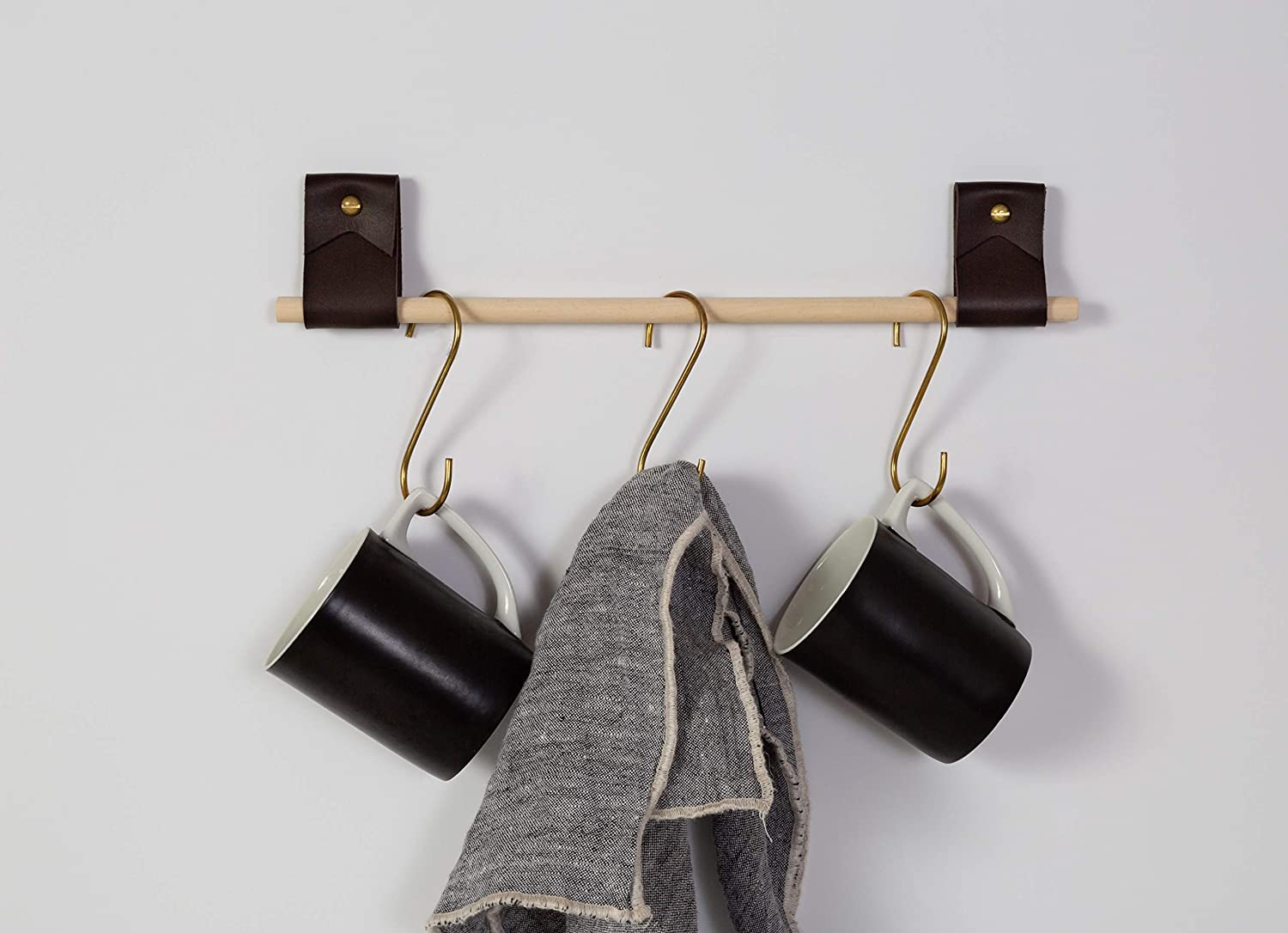 small minimalist leather strap hanger for bath towel holder leather wall  hook strap towel hook bathroom decor brass towel ring nordic home