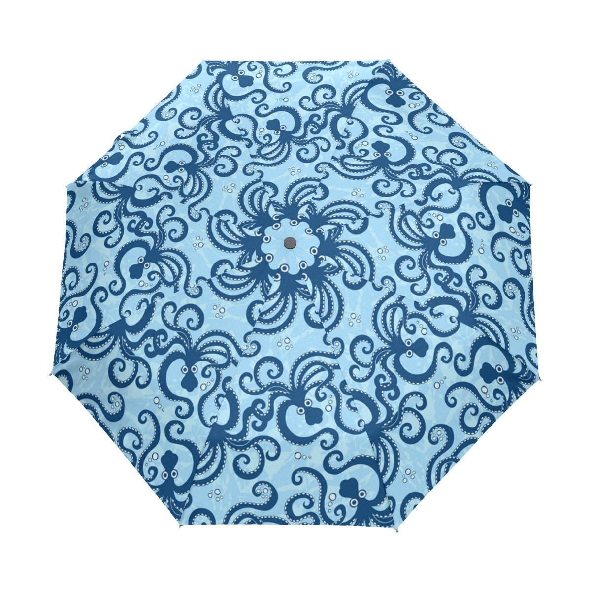 Custom Octopus Compact Travel Windproof Rainproof Foldable Umbrella