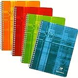 CLAIREFONTAINE 68761C - Un cahier à spirale 17x22 cm 180 pages grands carreaux - couleur aléatoire vendu à l'unité