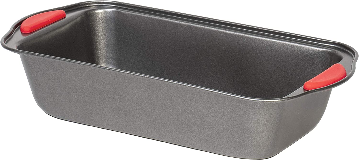 Non-Stick Original Loaf Cake Bread Meatloaf Baking Pan - Easy Grip Bakeware - 9.5 x 5 x 2.5 Inch