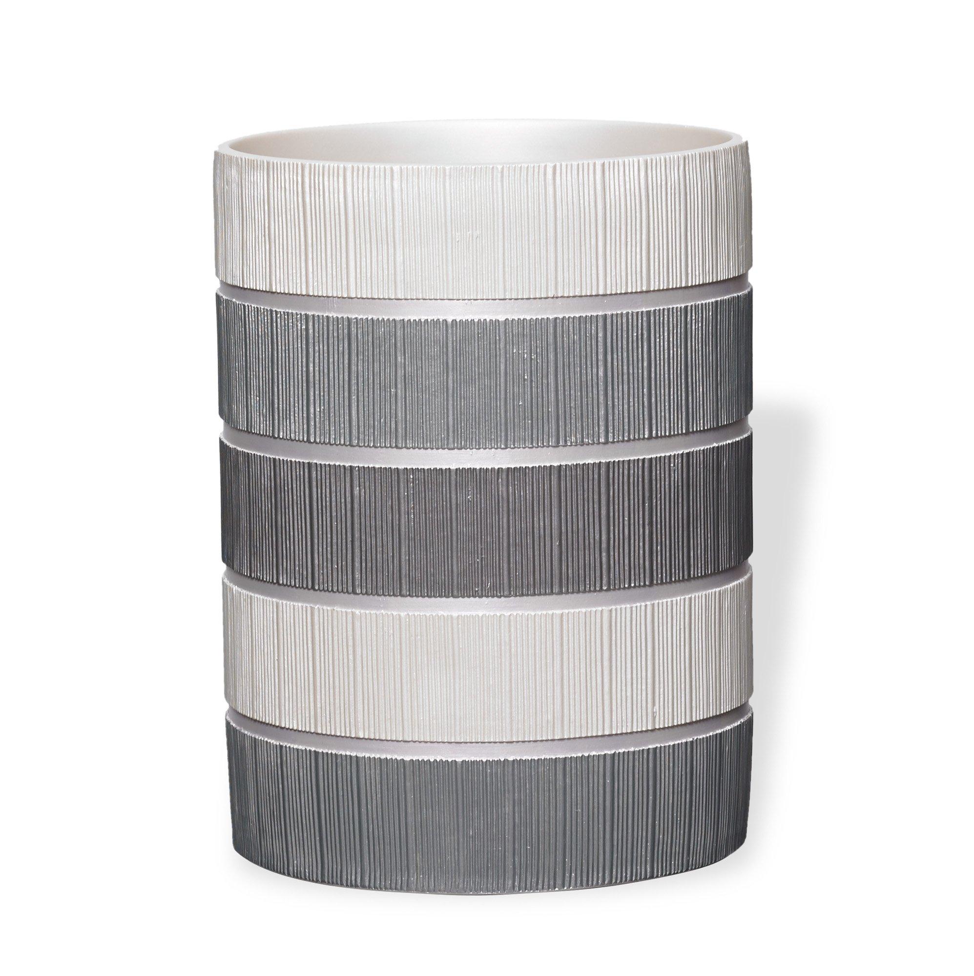 Popular Bath Waste Basket, Madern Collection, Grey