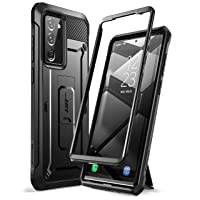 SUPCASE Unicorn Beetle Pro Series Case for Samsung Galaxy Note 20 Ultra (2020 Release), Full-Body Rugged Holster & Kickstand Without Built-in Screen Protector (Black)