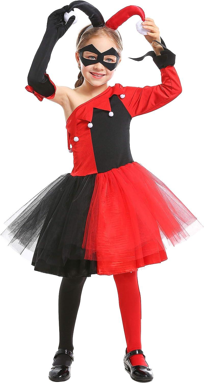 LOLANTA Disfraz de Cosplay de Harley para niña Disfraz de ...