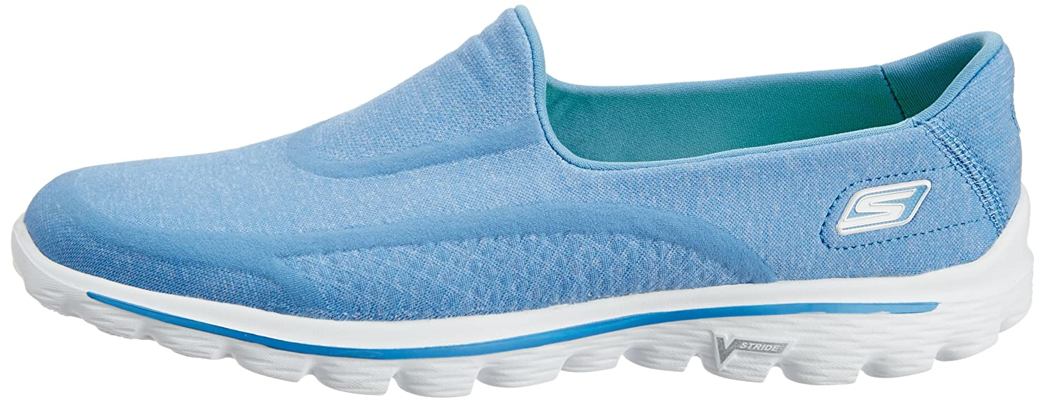 Skechers GO Damen Walk 2 Super Sock Damen GO Walkingschuhe Blau (Blu) 475080