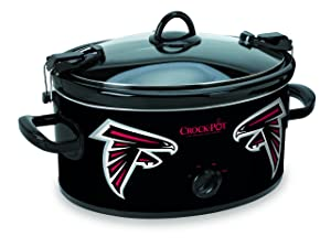 Crock-pot SCCPNFL600-AF Electric Cooking, Black/White/Silver/Red