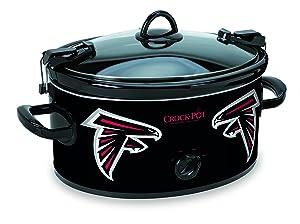 Crock-pot SCCPNFL600-AF Electric Cooking, Black/White/Silver/Red
