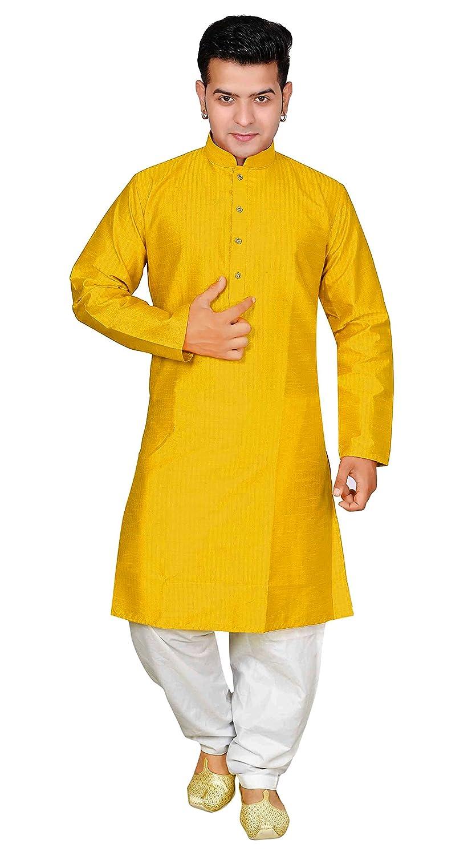 ab49f9f66e Amazon.com: Mens Indian Bollywood style Kurta pyjama salwar Kameez sherwani  party wear 1820: Clothing