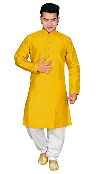 Amazon.com: Para hombre Indian Bollywood Estilo pijama Kurta ...