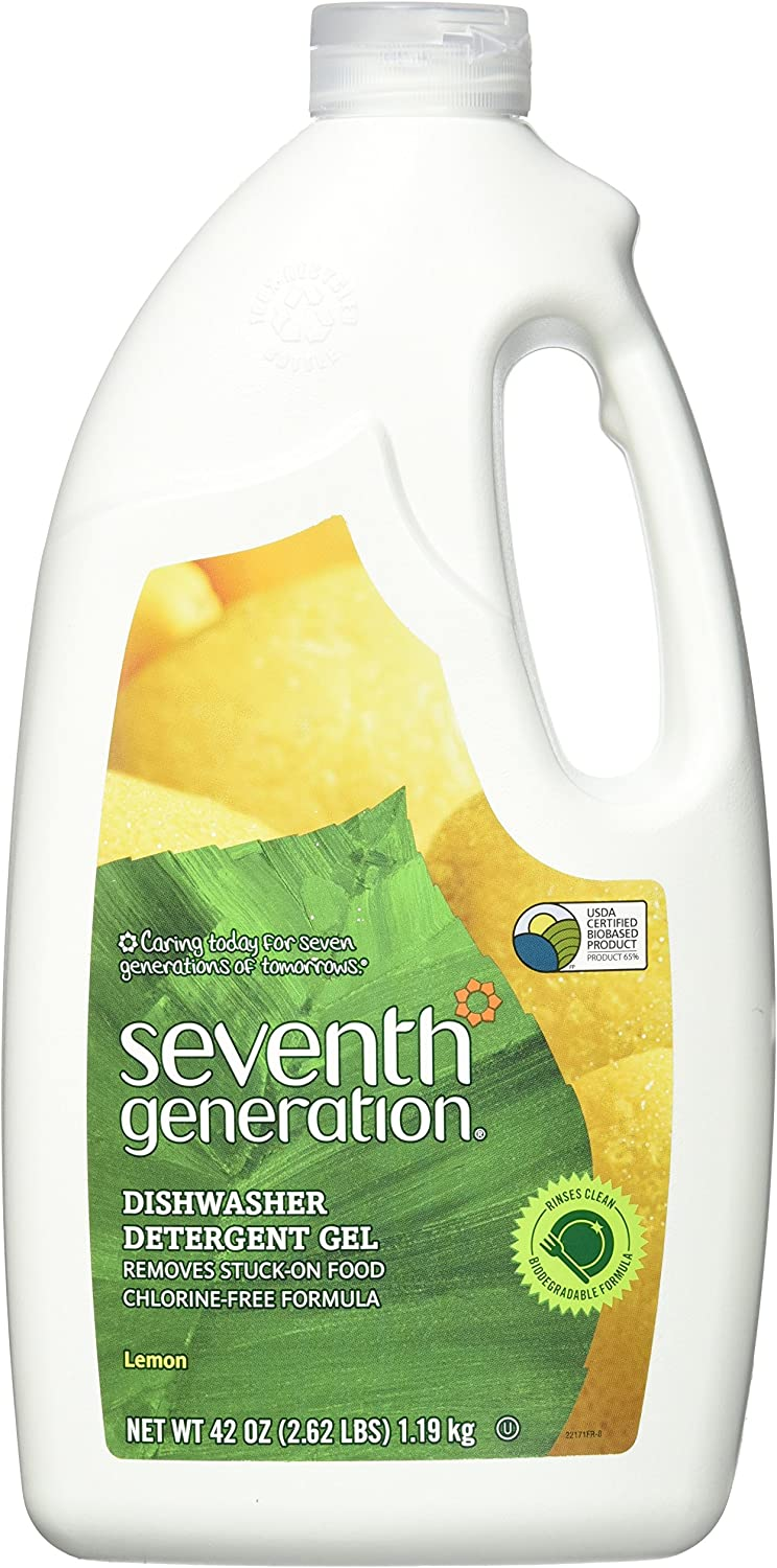 Seventh Generation Auto Dish Gel - 42 oz - Lemon - 2 pk