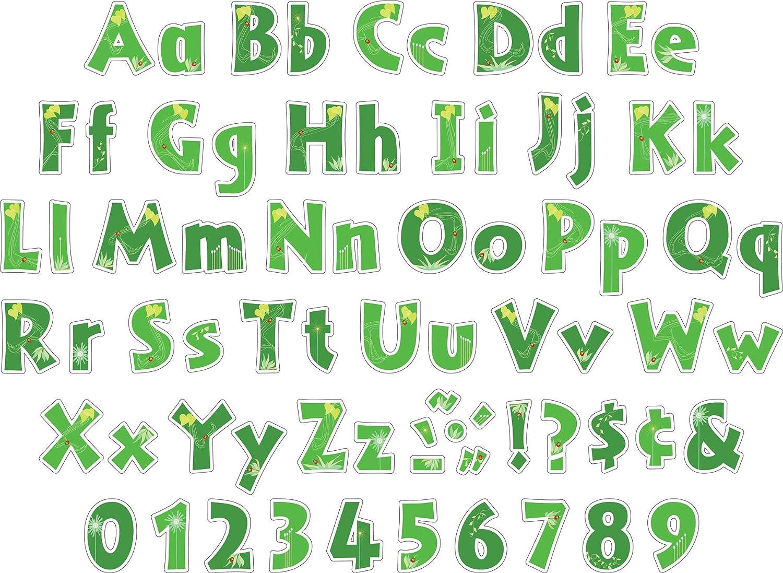 Go Green LL-1707 Barker Creek 4 Poster Letters /& Bulletin Board Letter Pop-Outs