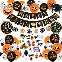 Halloween decoratie, Halloween slinger, Halloween ballonnen, Happy Halloween decoratie folieballonnen slinger, ballonnen…