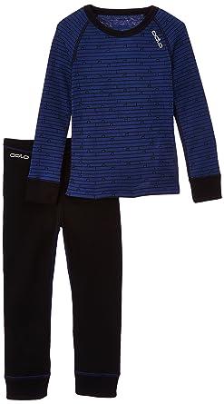 94da2bc48a5259 Odlo Kinder Set Shirt Long Sleeve Pants Warm Kids