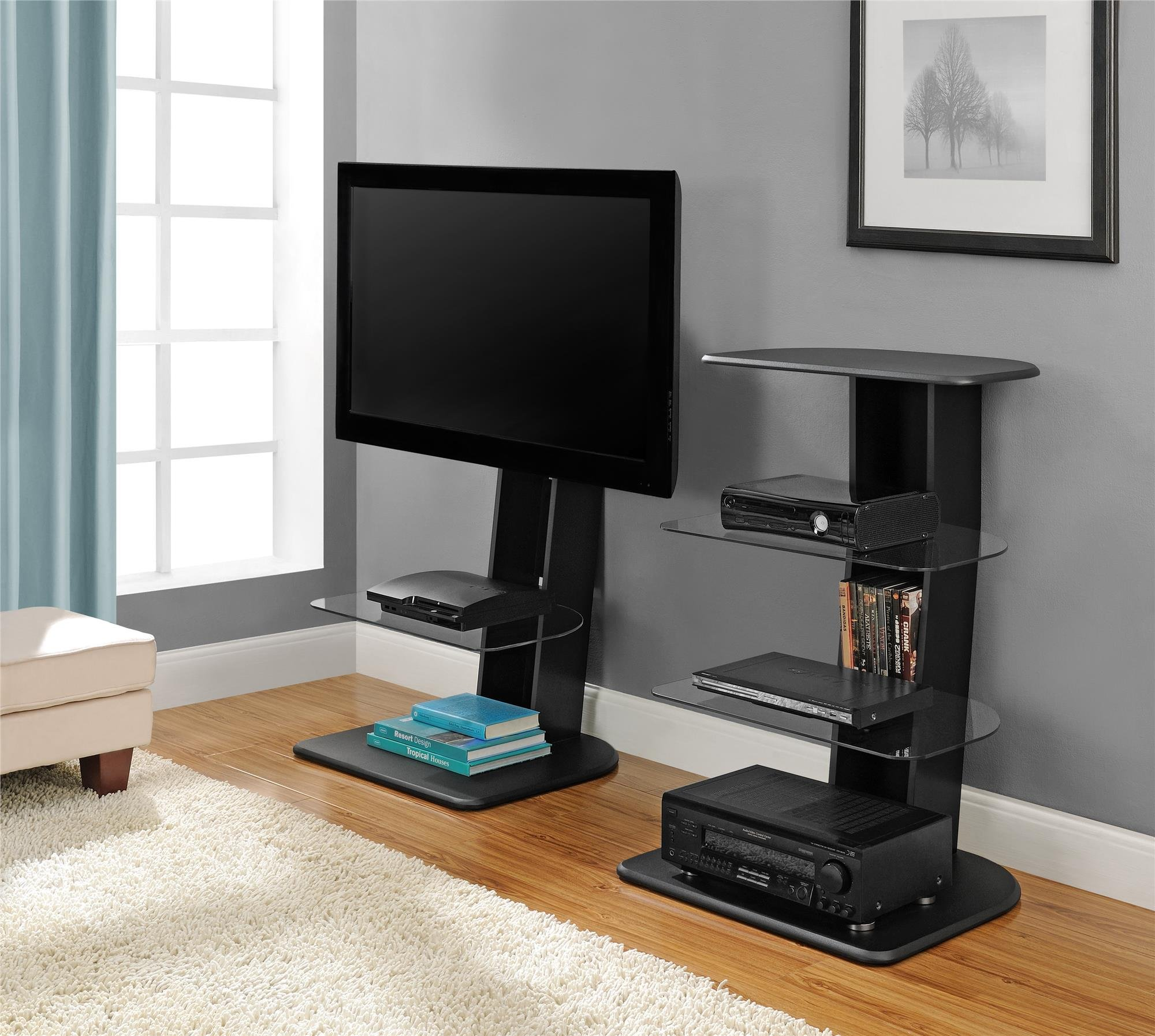 Ameriwood Home Galaxy TV Stand with Mount for TVs up to 50'', Black by Ameriwood Home (Image #5)