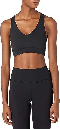 Core 10 Amazon Brand Women's Spectrum Long-Line Strappy Cross Back Yoga Sports Bra