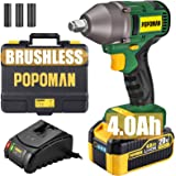 Impact Wrench, Brushless 20V MAX Cordless, 4.0Ah Li-ion Battery, 300 Ft-lbs Max Torque with 3 Speed Transmission, 1/2…