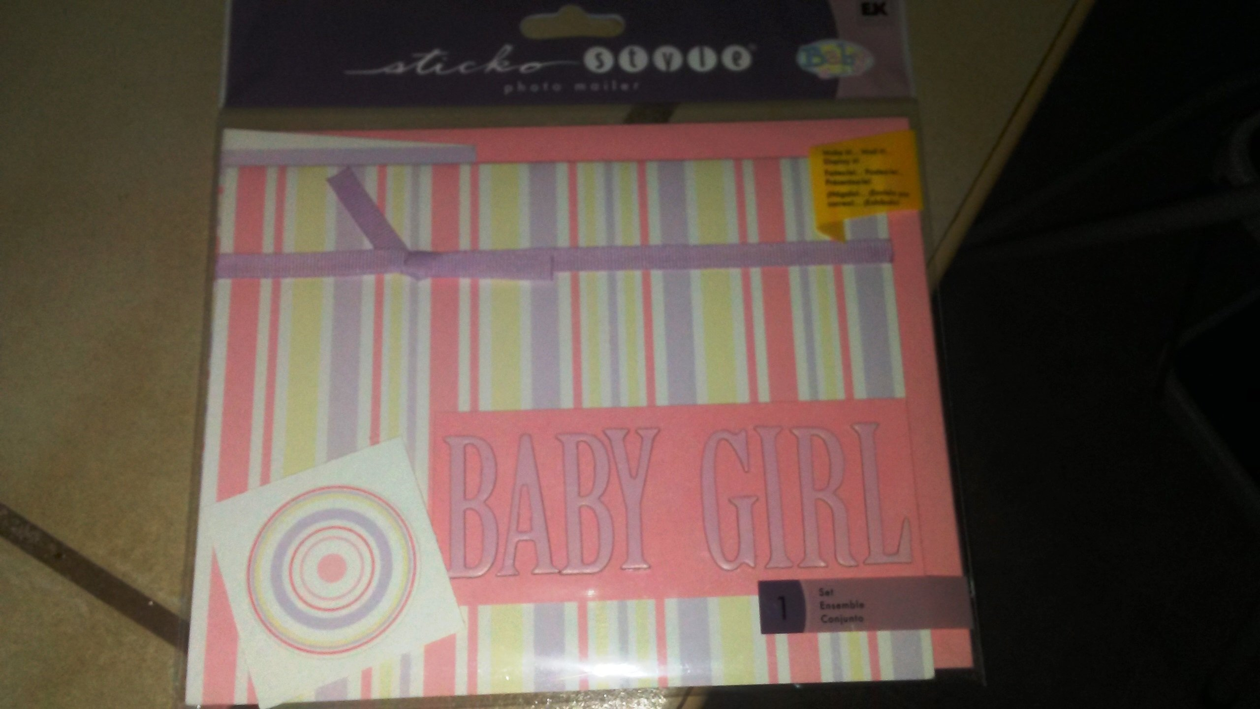 sticko styole baby girl photo mailer