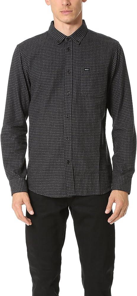RVCA - Hombres que va a hacer Button Oxford de manga larga Camisa, Small, Pirate Black: Amazon.es: Ropa y accesorios