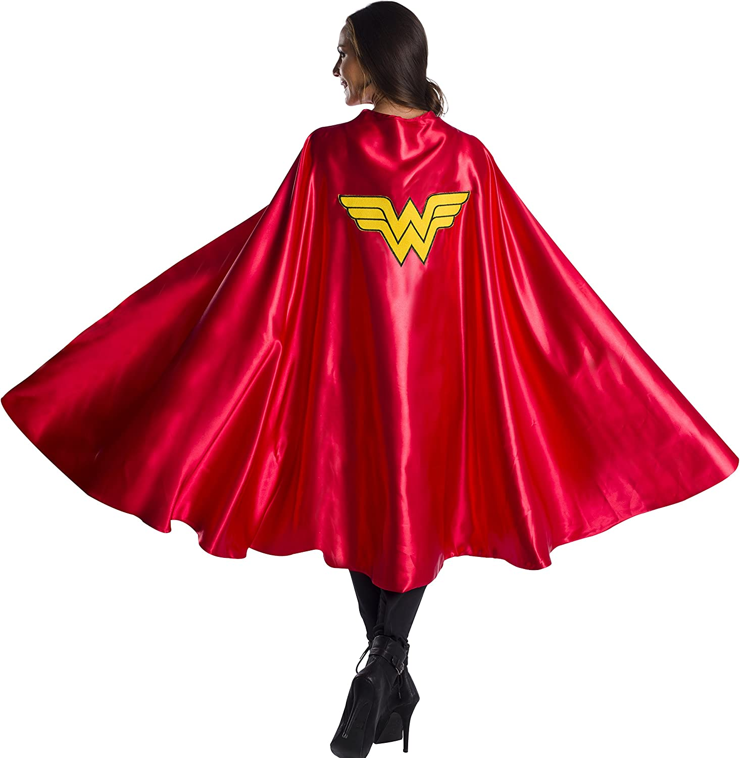 Rubie's Women's DC Comics Deluxe Wonder Woman Cape, As Shown, One Size: Clothing
