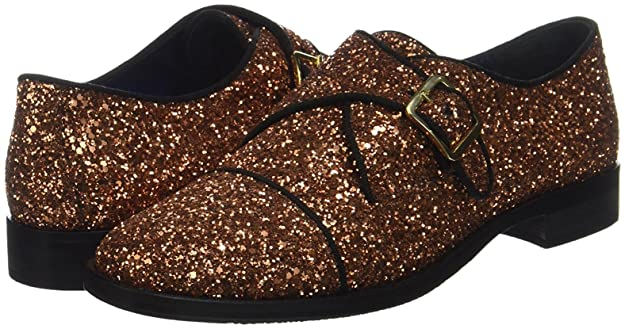 Pollini SA10162M1YTQ0905, Zapatos Monkstrap Mujer, Bronce, EU 38