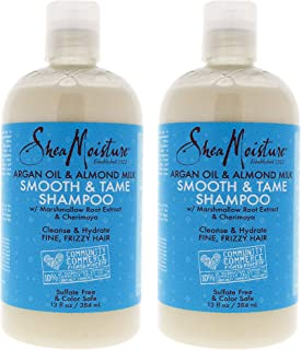 product image for Shea Moisture Argan Oil & Almond Milk Smooth & Tame Shampoo Pack Of 2, 13 Oz