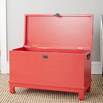 Amazon.com: Safavieh American Homes Collection Wesley Chest, Hot Red ...