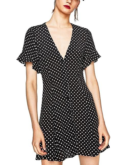 Zara - Vestido - para mujer negro negro X-Small