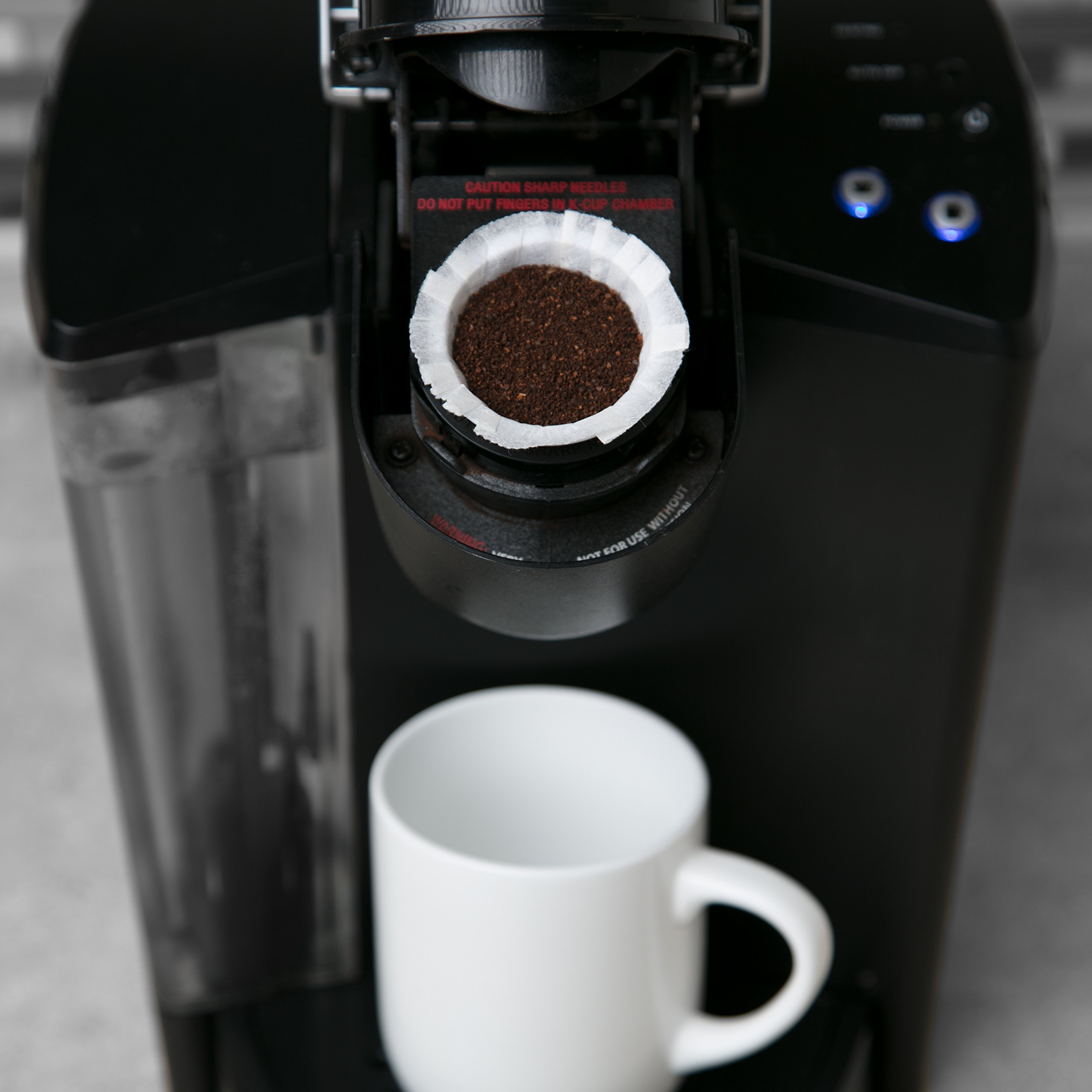 Disposable Cups for Use in Keurig Brewers - Simple Cups - 50 Cups, Lids, and Filters - Use Your Own Coffee in K-cups by Simple Cups (Image #6)