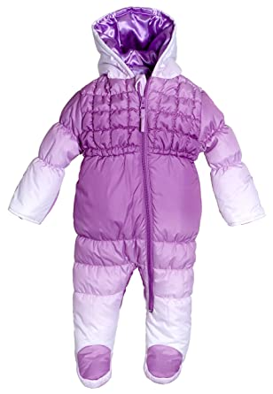 55f1e3a5 Amazon.com: Wippette Infant Newborn Baby Girls Down Alternative Hooded  Snowsuit Pram Bunting: Clothing